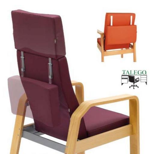 Sillon traslado respaldo reclinable partido, asiento movil me-916 [1]