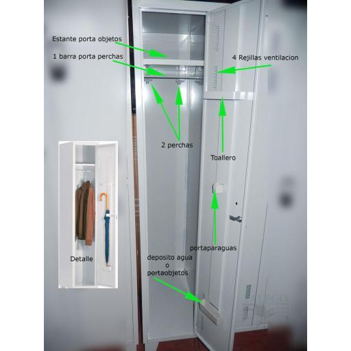 Taquilla de vestuario puerta entera id-taq170h [2]