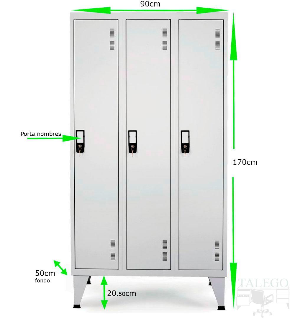 Taquilla de vestuario puerta entera id-taq170h