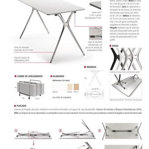 Mesa diseño plegable ber-Q523 [2]