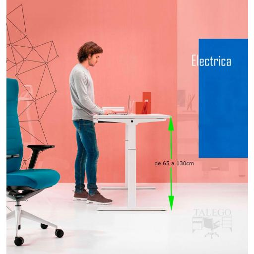 Mesa regulable en altura electrica 65 a 130cm ber-mobilitystep