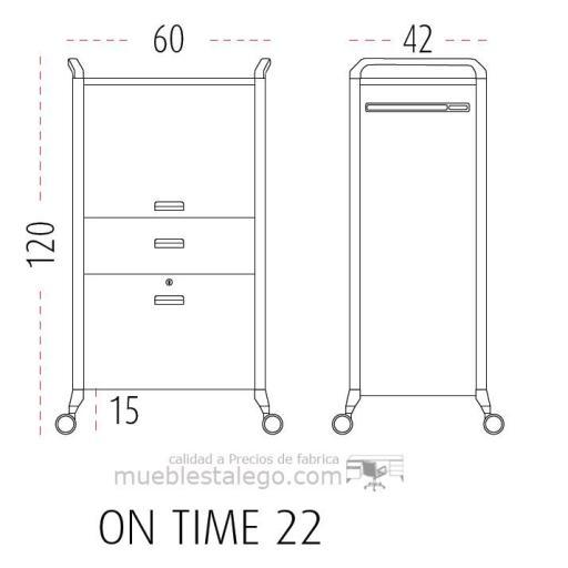 Mueble auxiliar polivalente con ruedas ber-on time 22 [1]
