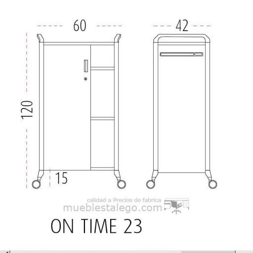 Mueble auxiliar polivalente con ruedas ber-on time 23 [2]