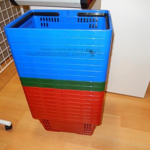 10  cestas de la compra con asas roja [2]