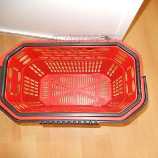 5 Cestas de compra con ruedas rojo [2]