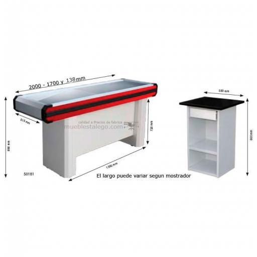 Mostrador caja supermercado recto co-muebles caja R  [1]