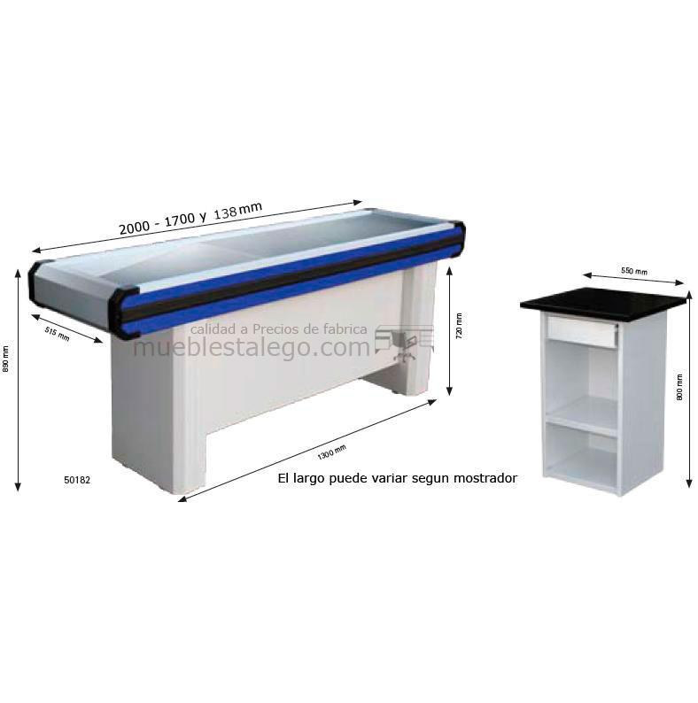 Mostrador caja supermercado recto co-muebles caja R