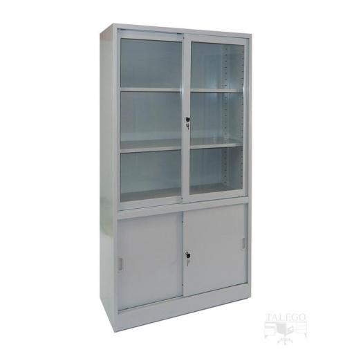 Armario metalico puertas de cristal y metal 195x100x42 id-0212.0106 [2]
