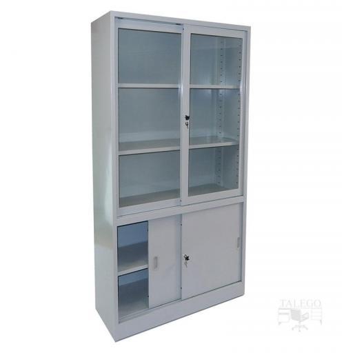 Armario metalico puertas de cristal y metal 195x100x42 id-0212.0106 [3]
