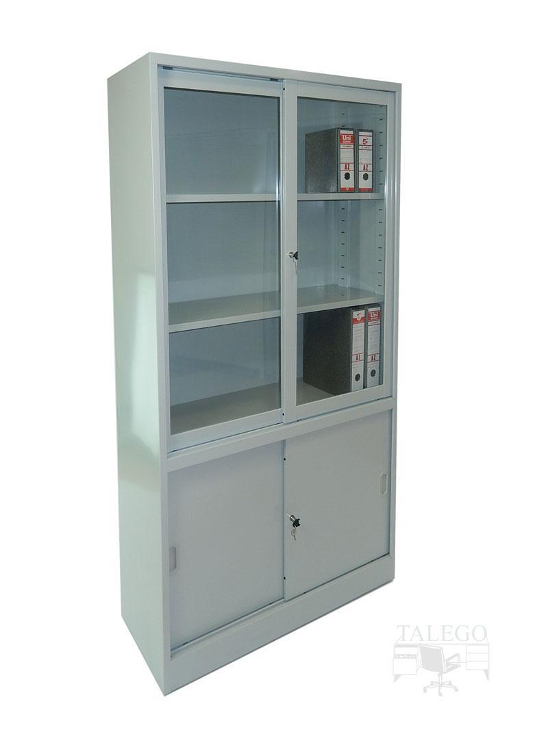 Armario metalico puertas de cristal y metal 195x100x42 id-0212.0106