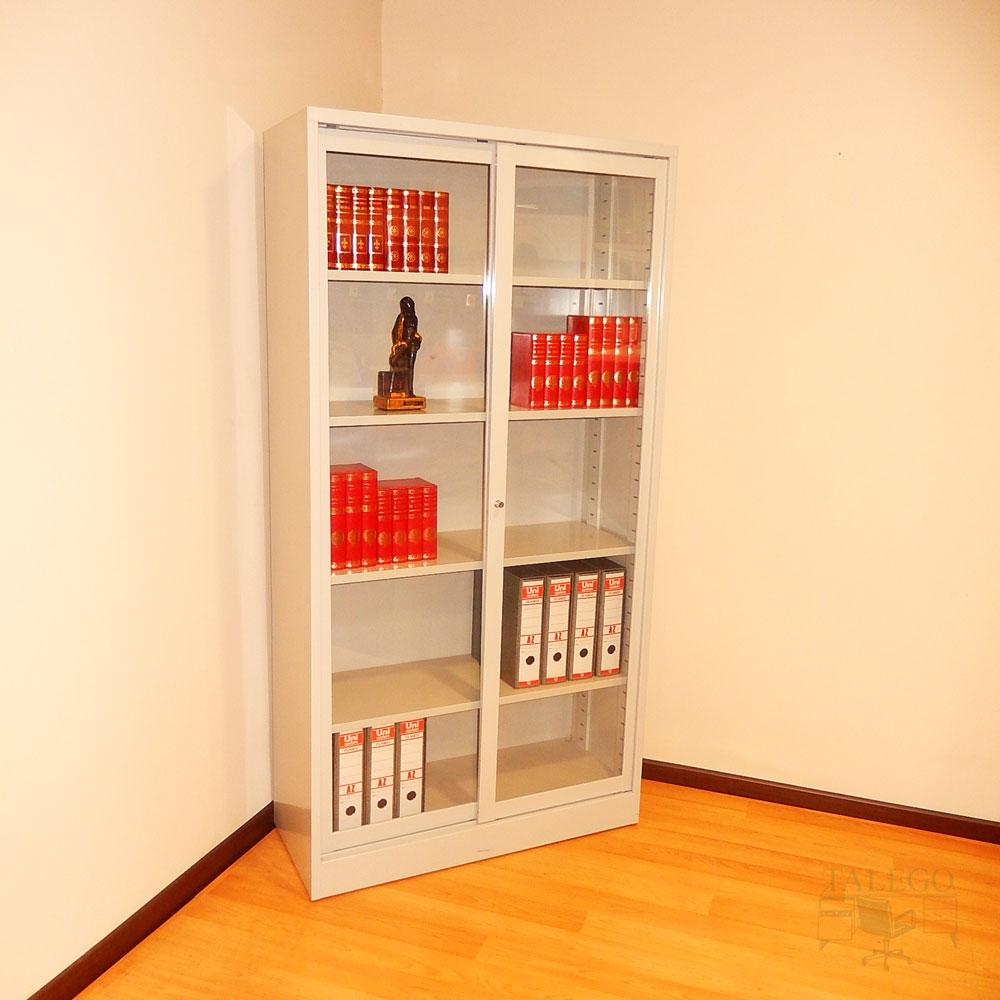 Armario metalico puertas de cristal 195x100x42 id-0210.0106