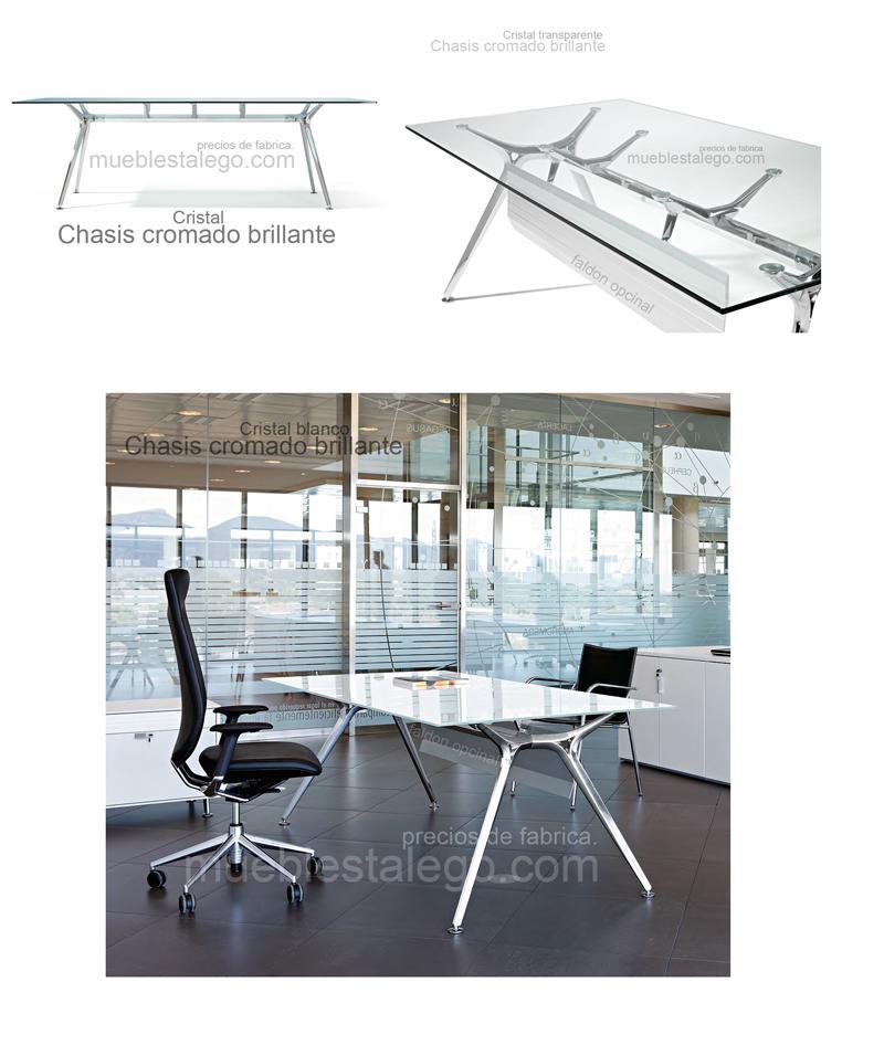 mesa de cristal de diseño ber-arkitek 200x100
