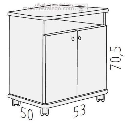 Mesa fotocopiadora con ruedas ber-copian40 [1]