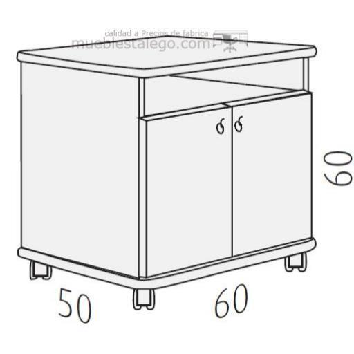 Mesa fotocopiadora con ruedas ber-copian50 [1]