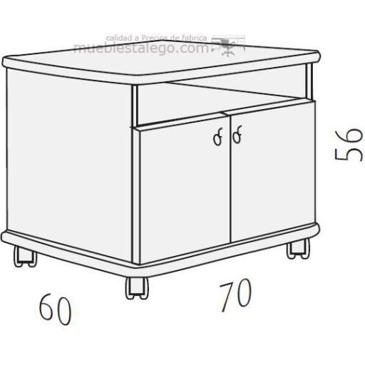 Mesa fotocopiadora grandes ber-copian60 [1]
