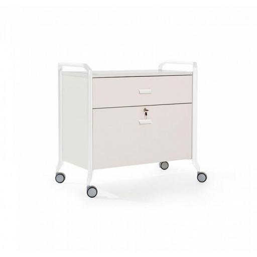 Mueble auxiliar polivalente con ruedas ber-on time 10