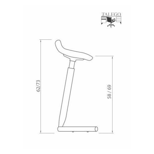 Punto de apoyo taburete de trabajo SB-WK80pa2 [1]