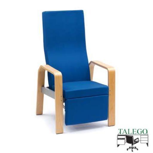 Sillón respaldo alto reclinable con reposapies integrado me-902r