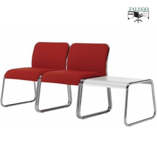 Conjunto de sillones y mesas de sala de espera [1]